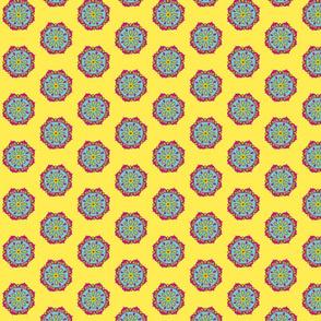 Yellow flower mandala