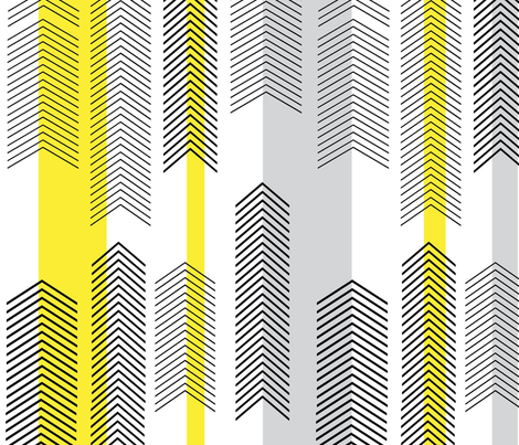 chevron stripe in yellow & gray fabric by cristinapires on Spoonflower - custom fabric