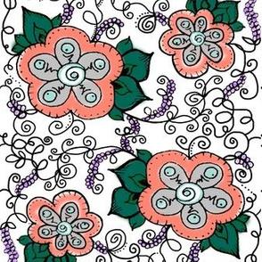 Lavender Mint Coral Flowers