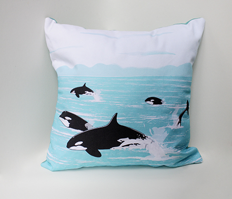Having a Whale of a Time Pillows