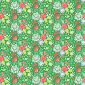 Flowergarden - green flowers