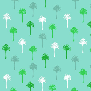Palm Trees on Turquoise