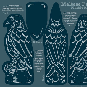 Maltese Falcon Film Noir Plushie