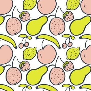 Hand Drawn Fruit