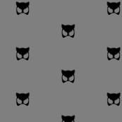 gray cat mask