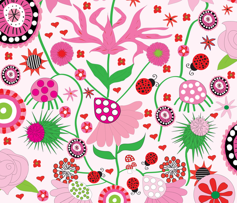 Pink Party fabric by orangefancy on Spoonflower - custom fabric