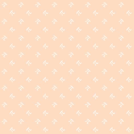 peach pi fabric by weavingmajor on Spoonflower - custom fabric