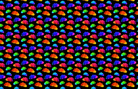 Rainbow Clouds fabric by bddesign on Spoonflower - custom fabric