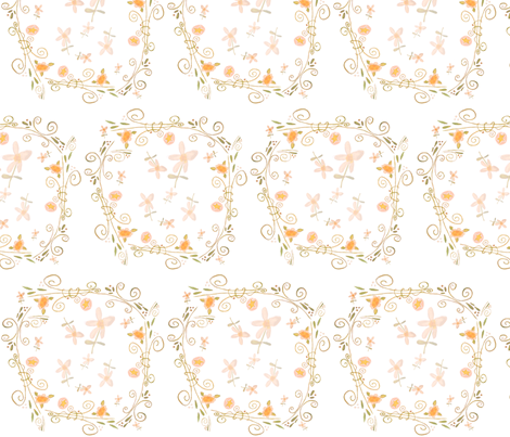 Bunny Hugs Collection: Posey Pockets fabric by susankweckesser on Spoonflower - custom fabric