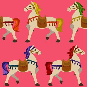 rainbow horses pink