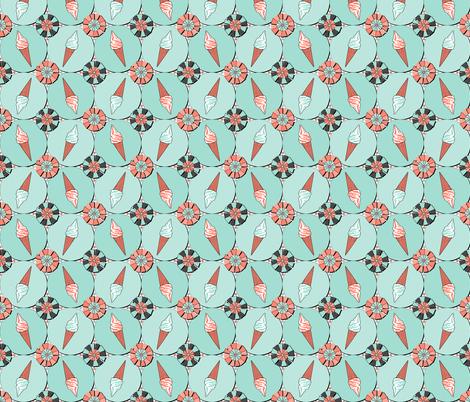 Ice cream (Mint) fabric by vannina on Spoonflower - custom fabric