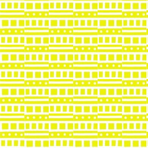 Morse Code Yellow White