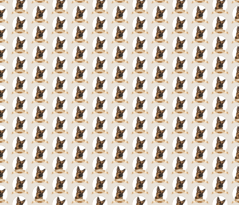 German Shepherd fabric by pateisen on Spoonflower - custom fabric