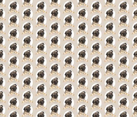 Pug fabric by pateisen on Spoonflower - custom fabric