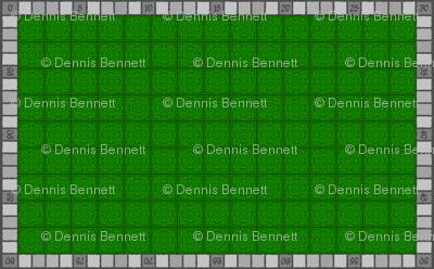 Tile laying board game matt