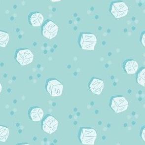 Ice Cubes on Glacier Blue
