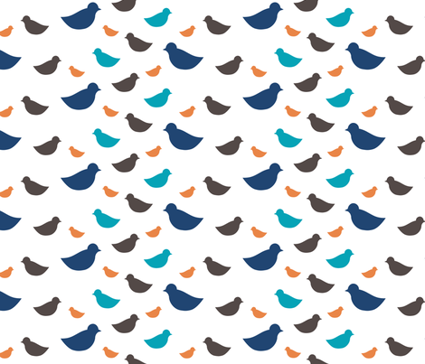 Ditsy Birds fabric by mrshervi on Spoonflower - custom fabric