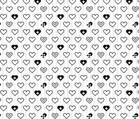 Scandi Hearts fabric by mrshervi on Spoonflower - custom fabric