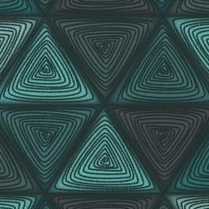 triangles aqua