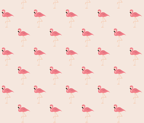 Flamingos on pink fabric by bella_modiste on Spoonflower - custom fabric