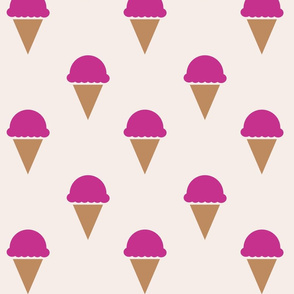 Raspberry Ice Cream Fabric