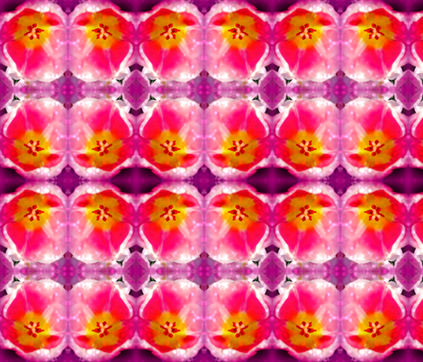 Mystical Pink Tulips  fabric by bauden on Spoonflower - custom fabric