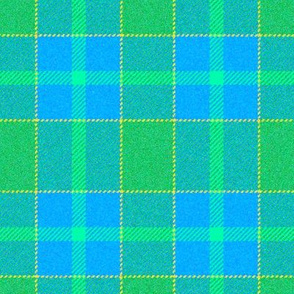Sea Green and Blue Plaid