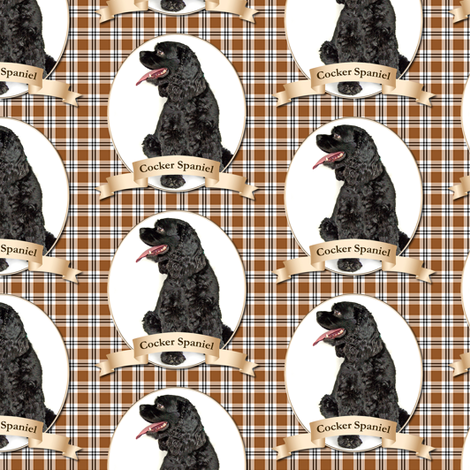 Black Cocker Spaniel fabric by pateisen on Spoonflower - custom fabric