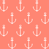 Nautical Anchor - Coral