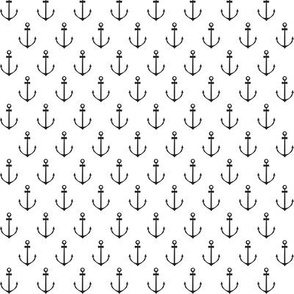 Nautical Anchor - Black and White