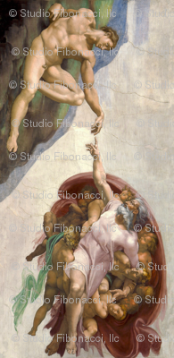 Creation Of Adam Vertical Fabric Studiofibonacci