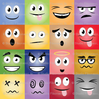 Cartoon Face Expressions - 4in
