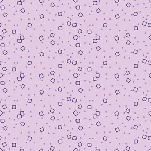 Ditsy Blocks and Dots (Purple)