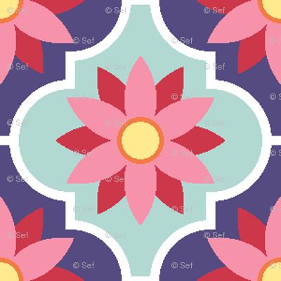 c-rhombus flower 2 - spring floral