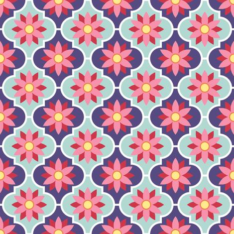 c-rhombus flower 2 - spring floral fabric by sef on Spoonflower - custom fabric