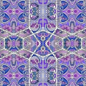 Purple Paisley and Posies