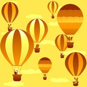 Hot Air Balloon Dogs Sunset