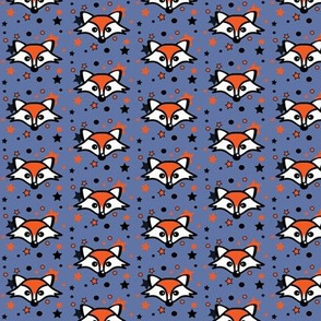 Foxy Orange Stars Blue