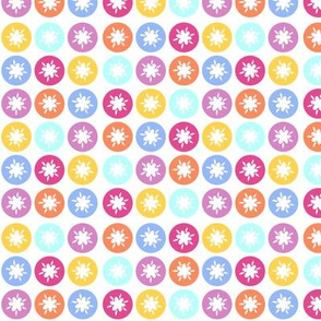 HAPPY! Flower Polka Dots- Bright