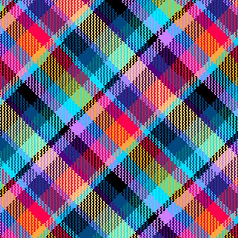 Madras Plaid Tropical Night fabric by eclectic_house on Spoonflower - custom fabric