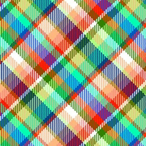 Madras Plaid Tropical Fruit