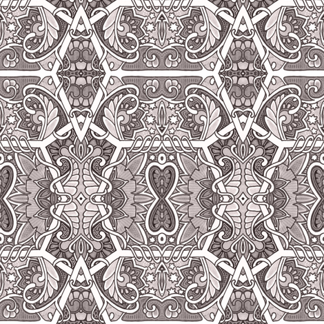 Heart Hourglass Under the Stars fabric by edsel2084 on Spoonflower - custom fabric