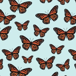 Monarch Butterflies Sky Blue