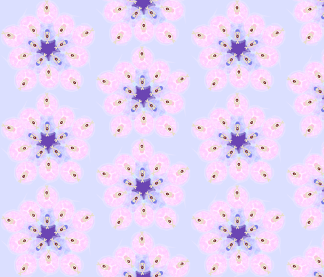 Ballerina Flower Formation purple fabric by colour_angel_by_kv on Spoonflower - custom fabric