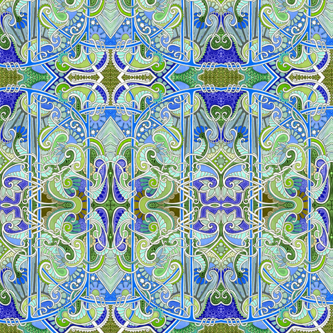 Night Time In Paisleyland fabric by edsel2084 on Spoonflower - custom fabric