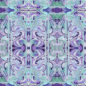 Twisted Paisley Blues (and lavenders)