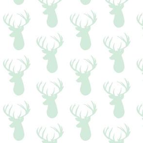 mint on white deer head
