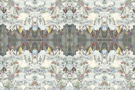 Alice in Wonderland, Pool Of Tears.  fabric by mialliecat on Spoonflower - custom fabric