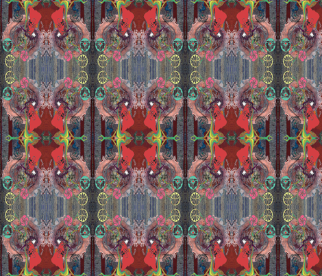 Sister and Bones, version two. fabric by kirsty_greenwood_ on Spoonflower - custom fabric