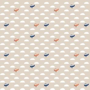 Navy Orange Planes